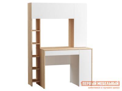 Компьютерный стол  Комфорт 12.71 Дуб сонома / Белый Моби. Цвет: белый