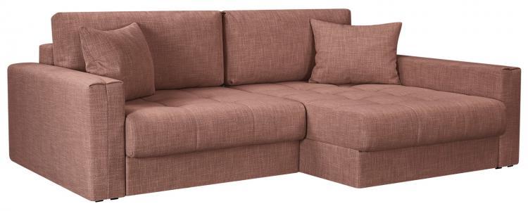 Модульный диван Брайтон вариант №2 Nobilia розовый (Рогожка) HomeMe. Цвет: розовый