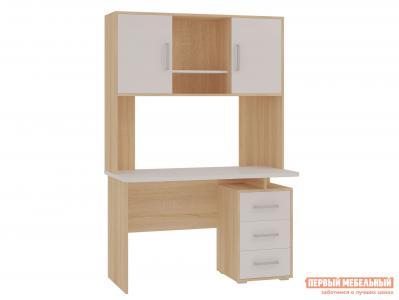 Компьютерный стол  SKL2.1N02 + NKL02S1.2 Дуб сонома / Белый МебельСон. Цвет: белый