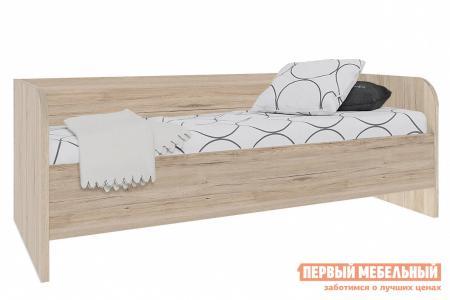 Детская кровать  Оксфорд Дуб Санремо / Белый, Без вставки Столлайн. Цвет: светлое дерево