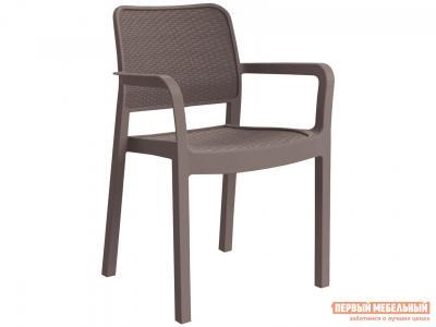Пластиковый стул  SAMANNA 17199558 Капучино ротанг Keter. Цвет: коричневый