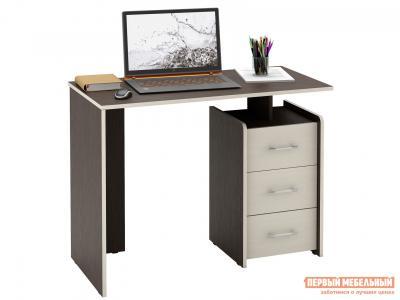 Письменный стол  Слим Венге / Дуб Молочный, 1030 мм МФ Мастер. Цвет: венге