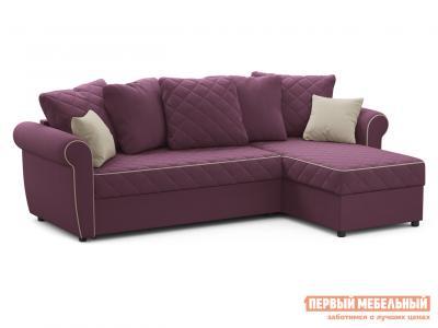 Угловой диван  Догвиль Фиолетовый, велюр, новый Живые диваны. Цвет: фиолетовый