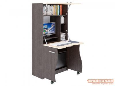 Компьютерный стол  СК-49 Венге / Молочный дуб Фабрика Пирамида. Цвет: венге