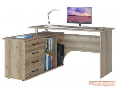 Компьютерный стол  КСТ-109 Дуб Делано, Левый Сокол. Цвет: светлое дерево
