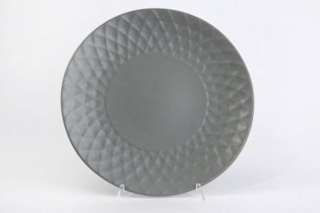 Тарелка Diamond Hoff. Цвет: серый