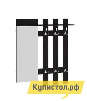 Настенная вешалка  с крючками и зеркалом Арт Венге Цаво ТриЯ. Цвет: венге