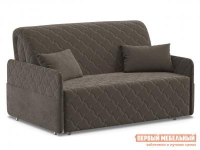 Прямой диван  Тино / Люкс Коричневый, велюр, 140х200 см, Независимый пружинный блок Живые диваны. Цвет: коричневый