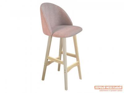 Барный стул  SHT-ST35/S65 Розовый десерт, микровелюр / Натуральный, массив бука Sheffilton. Цвет: розовый