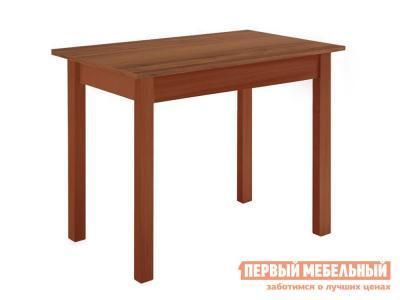 Кухонный стол  обеденный прямая ножка Вишня (массив) / Орех Боровичи. Цвет: коричневое дерево