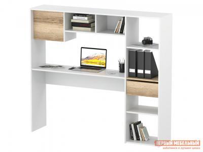 Компьютерный стол  СПм-24 Белый / Дуб Делано Сокол. Цвет: белый