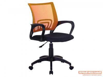Офисное кресло  CH-695NLT TW-11 Черный, ткань / TW-38-3 Оранжевый, сетка Бюрократ. Цвет: черный