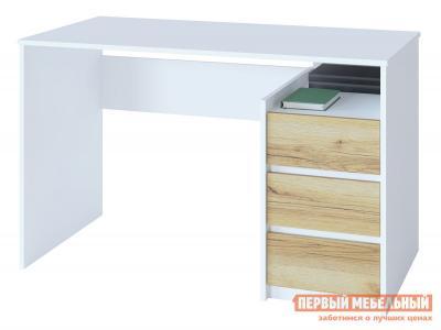 Компьютерный стол  СПМ-21 Белый / Дуб Делано Сокол. Цвет: белый