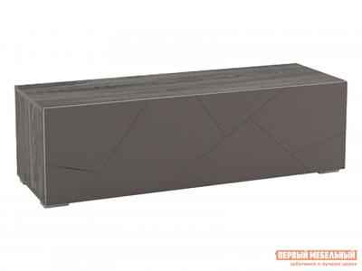 Тумба с ящиками  1 ящ. Суммит 011.86 Ясень анкор темный / Софт графит, 1202 мм Сильва. Цвет: серый