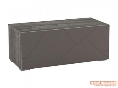 Тумба с ящиками  1 ящ. Суммит 011.86 Ясень анкор темный / Софт графит, 902 мм Сильва. Цвет: серый