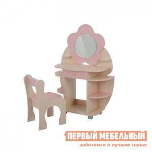 Столик и стульчик  Набор Ромашка Дуб млечный / Розовый Мебельсон. Цвет: розовый