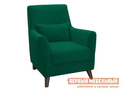 Кресло  Либерти Темно-зеленый, велюр НижегородмебельИК. Цвет: зеленый