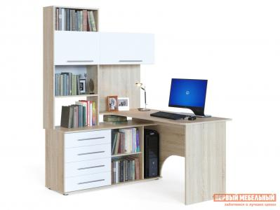Компьютерный стол  КСТ-14 Дуб Сонома / Белый, Левый Сокол. Цвет: белый