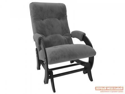 Кресло-качалка  глайдер Комфорт Модель 68 Венге, Verona Antrazite Grey, велюр Мебель Импэкс. Цвет: венге