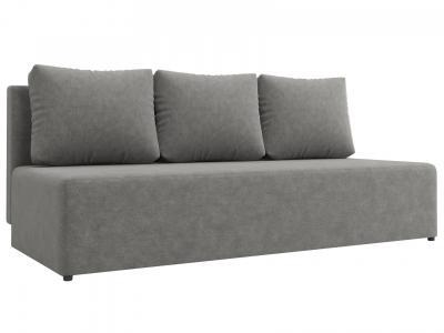 Прямой диван  Нексус Серый, микровелюр Столлайн. Цвет: серый