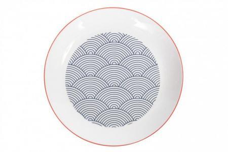 Тарелка десертная 19 см Japanese waves Hoff