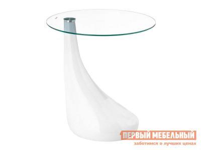 Журнальный столик  Gota Прозрачное стекло / Белый, пластик Лайфмебель. Цвет: белый