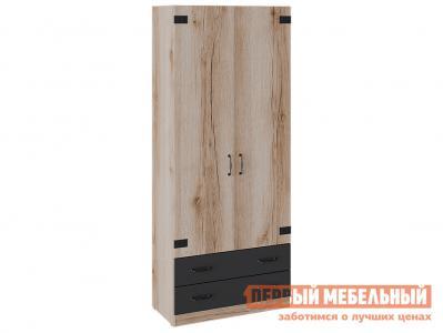 Детский шкаф  Окланд ТД-324.07.22 для одежды комбинированный Дуб Делано / Черный ТриЯ. Цвет: черный