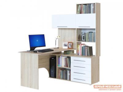Компьютерный стол  КСТ-14 Дуб Сонома / Белый, Правый Сокол. Цвет: белый