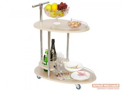 Сервировочный столик  Стол Фуршет Дуб беленый Калифорния мебель. Цвет: светлое дерево