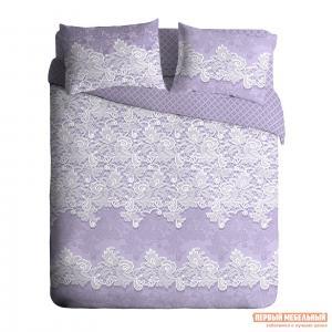 Комплект постельного белья  КПБ Ажур бязь фиолетовый Фиолетовый, Полутороспальный Павлина. Цвет: фиолетовый