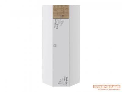 Детский шкаф  Оксфорд ТД-139.07.23 угловой Дуб Ривьера с рисунком / Белый ТриЯ. Цвет: белый