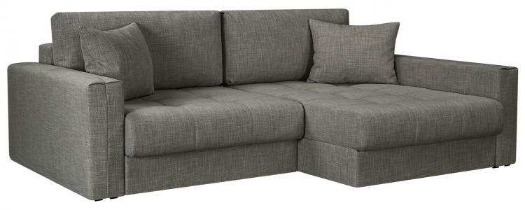 Модульный диван Брайтон вариант №2 Nobilia серый (Рогожка) HomeMe. Цвет: серый