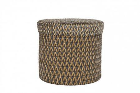 Коробка c крышкой 620206-GY Hoff. Цвет: коричневый