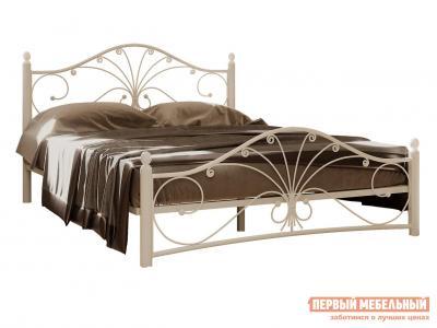 Односпальная кровать  Сандра Кремово-белый металл, 120х200 см Форвард-мебель. Цвет: бежевый
