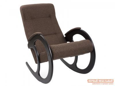 Кресло-качалка  Комфорт Модель 3 Malta 15А, рогожка, Венге Мебель Импэкс. Цвет: венге
