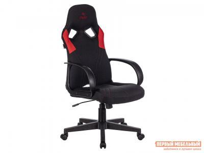Игровое кресло  ZOMBIE RUNNER Черный, ткань / Красный, экокожа Бюрократ. Цвет: черный