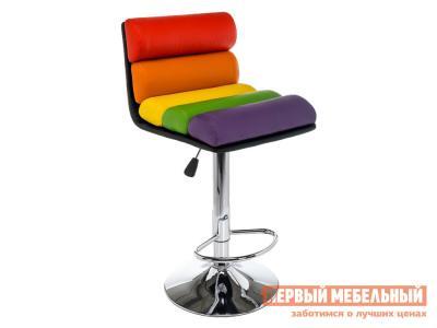 Барный стул  1261 Color Мультицвет, экокожа / Хром Лайфмебель. Цвет: мультицвет