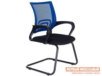 Офисный стул  Кресло CH-695N-AV TW-11 Черный, ткань / TW-05 Синий, сетка Бюрократ. Цвет: черный
