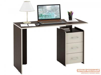 Письменный стол  Слим Венге / Дуб Молочный, 1200 мм МФ Мастер. Цвет: венге