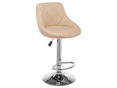 Барный стул  Curt Бежевый, кожзам / Хром Лайфмебель. Цвет: бежевый