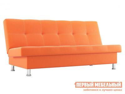 Прямой диван  Гастон Оранжевый, экокожа СтолЛайн. Цвет: оранжевый