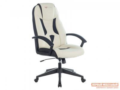 Игровое кресло  VIKING-8 Черный, экокожа / Белый, Бюрократ. Цвет: черно-белый
