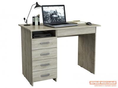 Компьютерный стол  письменный Милан-1 (0120) Дуб Сонома МФ Мастер. Цвет: светлое дерево
