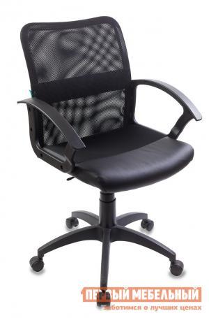 Офисное кресло  CH-590 Черная сетка, Иск. кожа Бюрократ. Цвет: черный