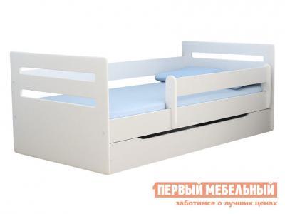 Детская кровать  подростковая с бортиком Мода М-80 Белый Столики детям. Цвет: белый