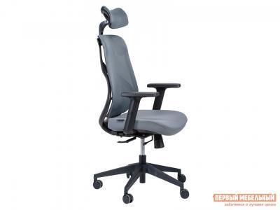 Кресло руководителя  Имидж Серый, сетка / ткань Норден. Цвет: серый