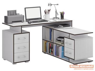 Компьютерный стол  Краст-3 Белый МФ Мастер. Цвет: белый