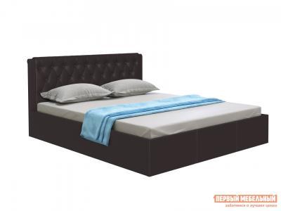 Двуспальная кровать  с подъемным механизмом Моника Коричневый экокожа, 1800 Х 2000 мм Первый Мебельный. Цвет: коричневый