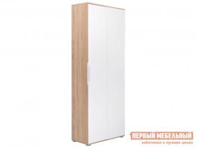 Распашной шкаф  двухстворчатый Куба угол 13.137 Дуб сонома / Белый Моби. Цвет: белый